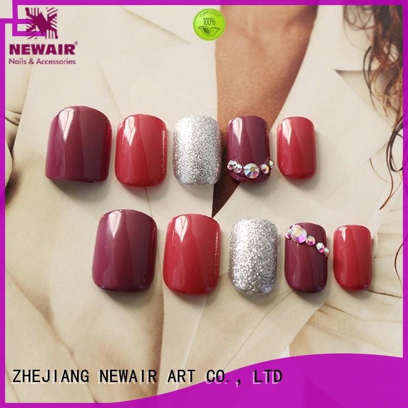 Newair Fake Nails gel press on nails manufacturer for bride