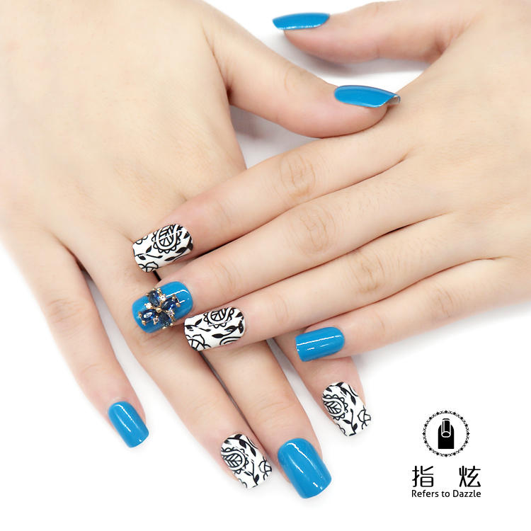popular short artificial nails from China for girls-2