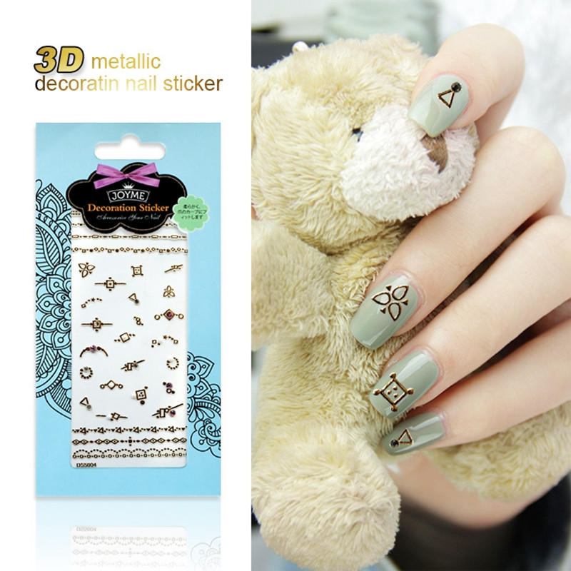 newest gold nail stickers design for women-3