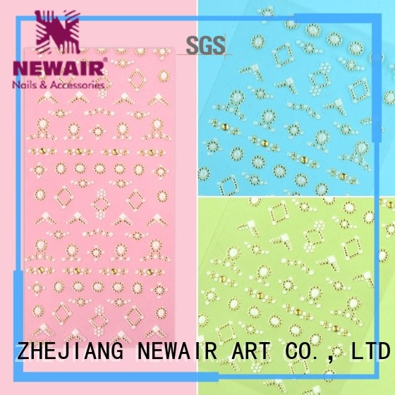 Newair Fake Nails self-adhesive nail decals with good price for women