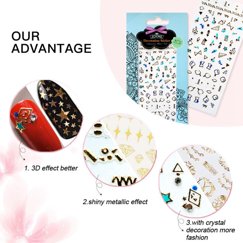 embossed nail stickers walmart for girl-3