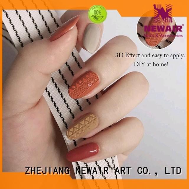 Newair Fake Nails transparent fingernail decals factory for girl