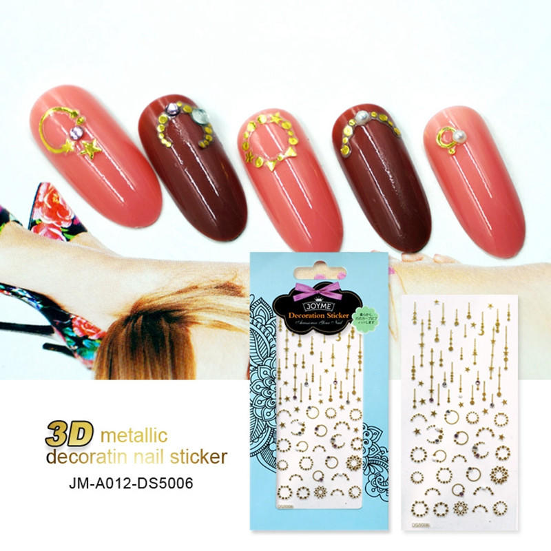 gel christmas nail art stickers with good price for women-1