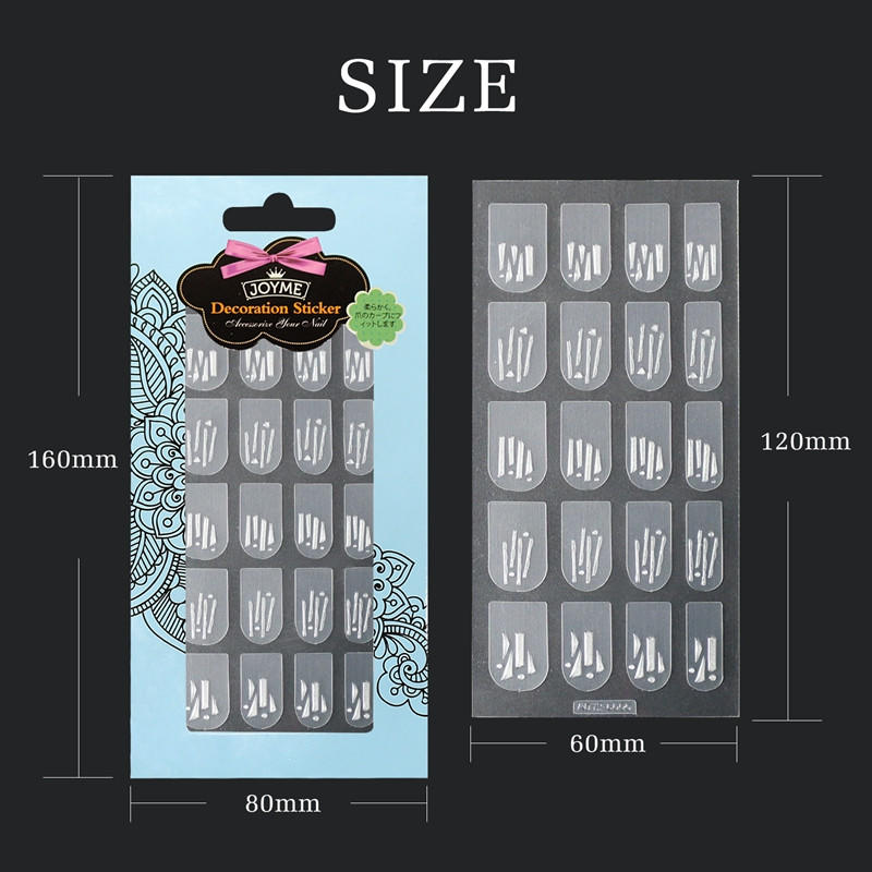 Newair Fake Nails gel christmas nail art stickers design for girl-3