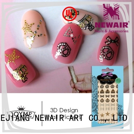 Newair Fake Nails colored nail art stickers online with good price for girl
