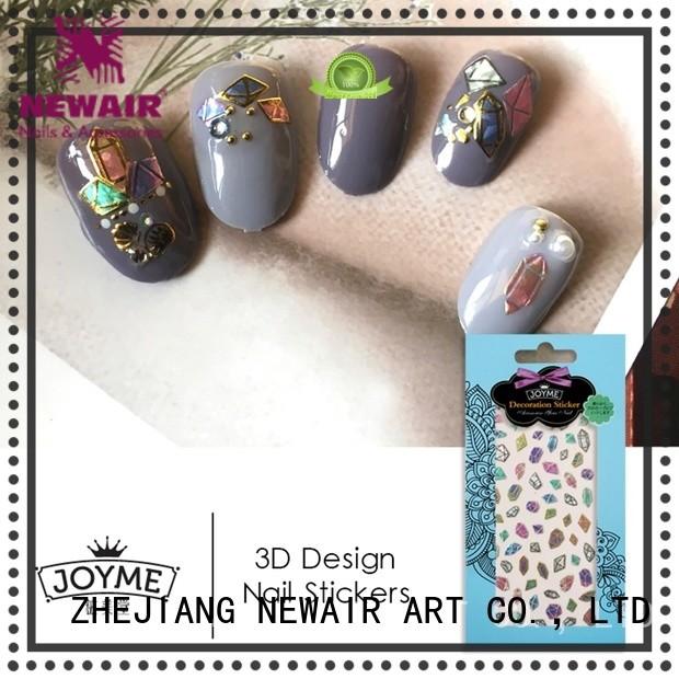 metallic star nail stickers design for ladies