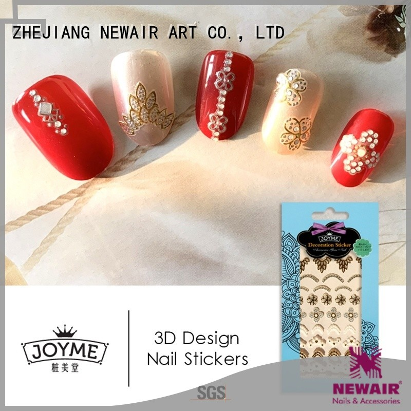 Newair Fake Nails self adhesive nail stickers with good price for women