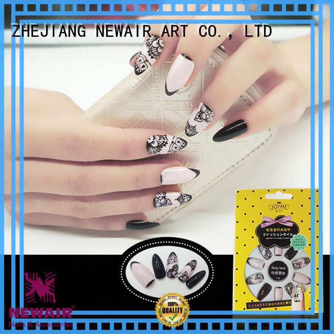 Newair Fake Nails green false nails long factory price for bride