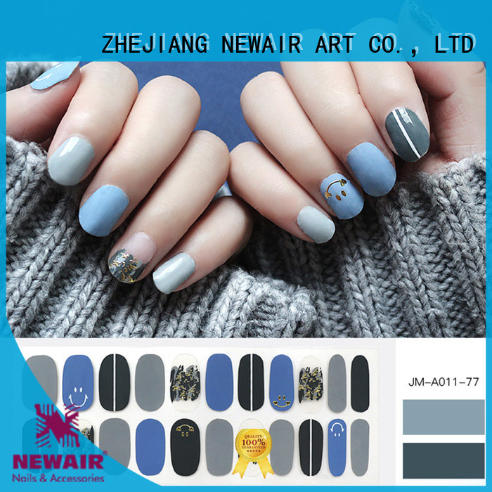 Newair Fake Nails nail art stripes designs personalized for commercial