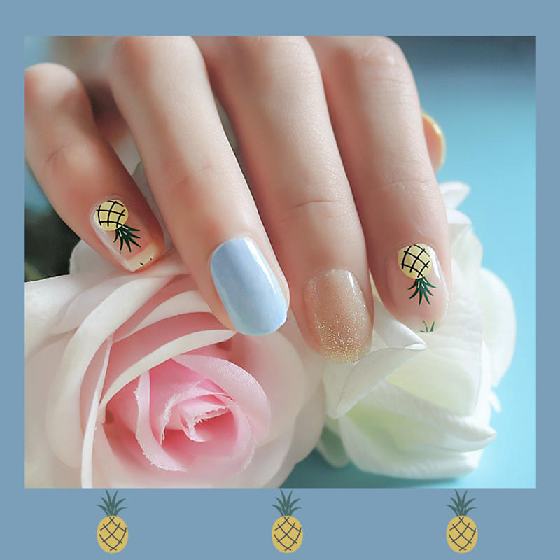gold incoco nail strips wholesale for girl-3
