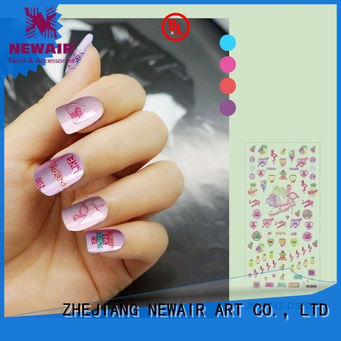 universal 3d nail decals design for girl