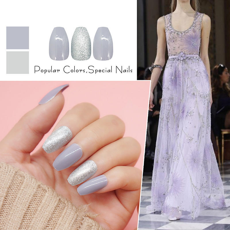 lovely false nails with design supplier for christmas-2