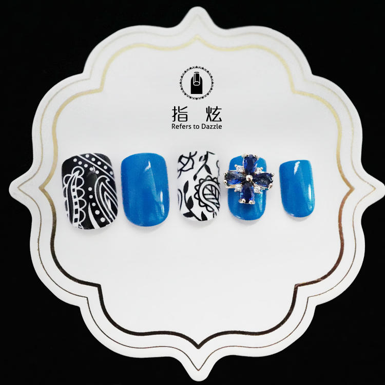 popular short artificial nails from China for girls-3