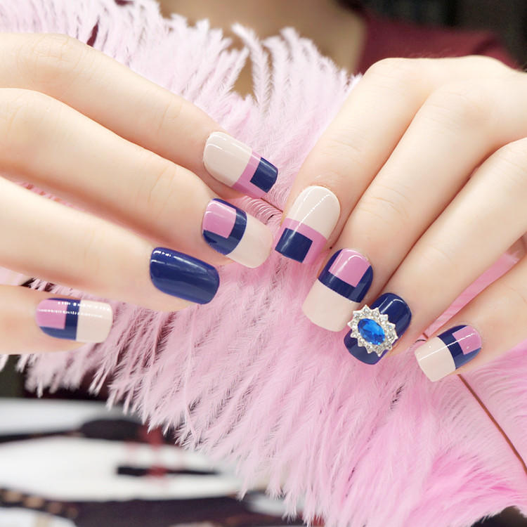 artifical etsy press on nails customized for bride-3