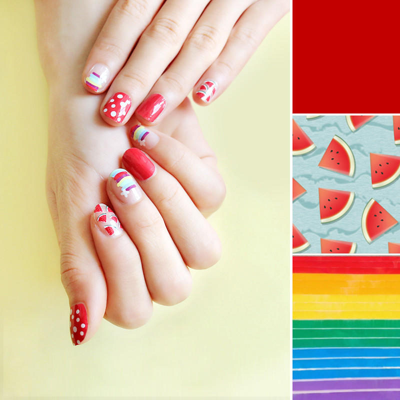 gel nail art stripes factory price for girl-2