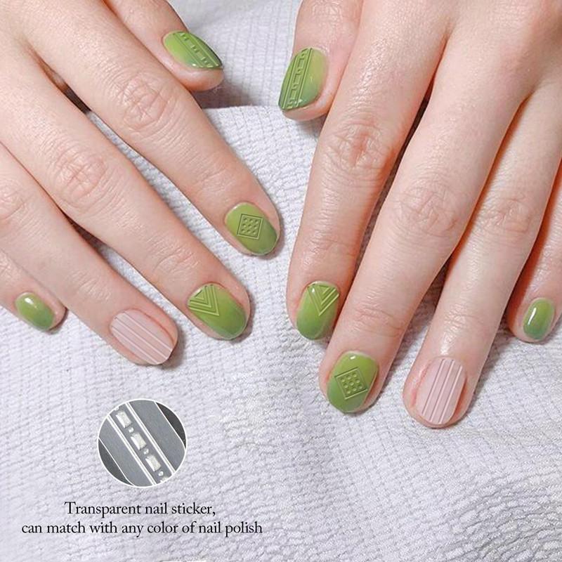 Newair Fake Nails metallic 3d nail stickers design for ladies-2