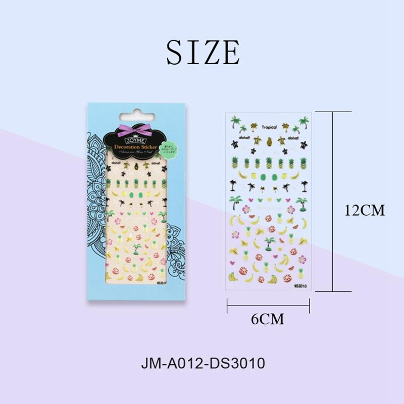 metallic christmas nail stickers factory for ladies-3