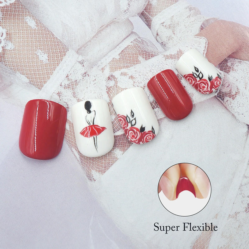 gold long fake nails from China for lady-1