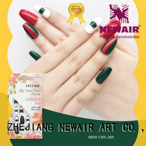 Newair Fake Nails lovely false nails with design supplier for girls