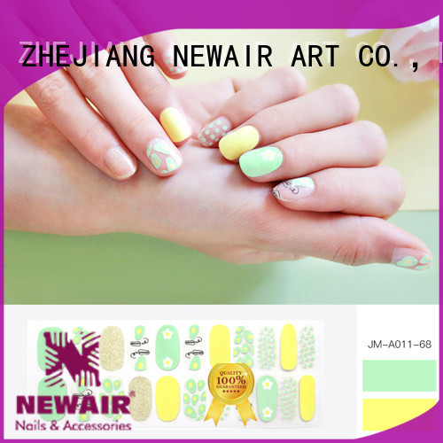 gray real nail polish strips supplier for women