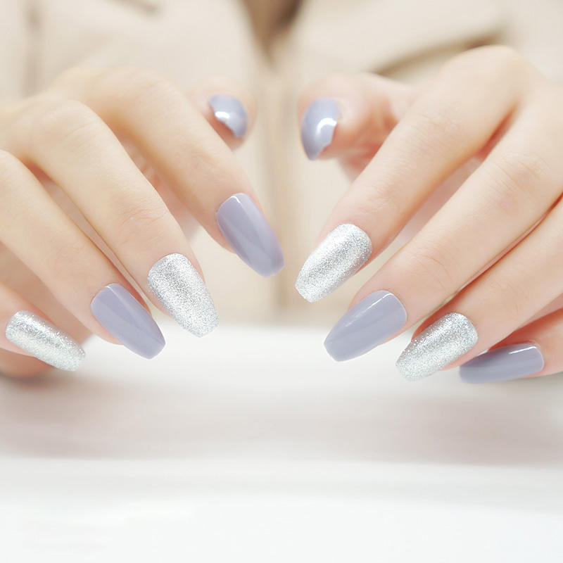 lovely false nails with design supplier for christmas-3