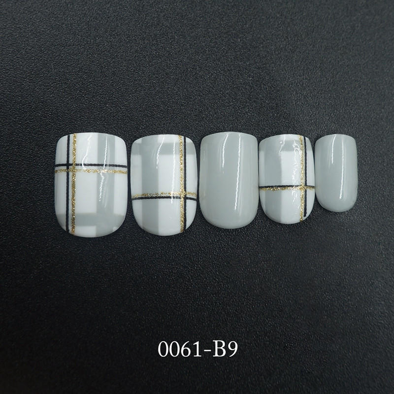 packaging short artificial nails customized for wedding-3
