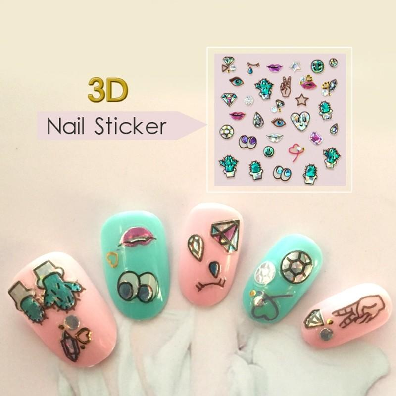 decorative flower nail stickers with good price for girl-3
