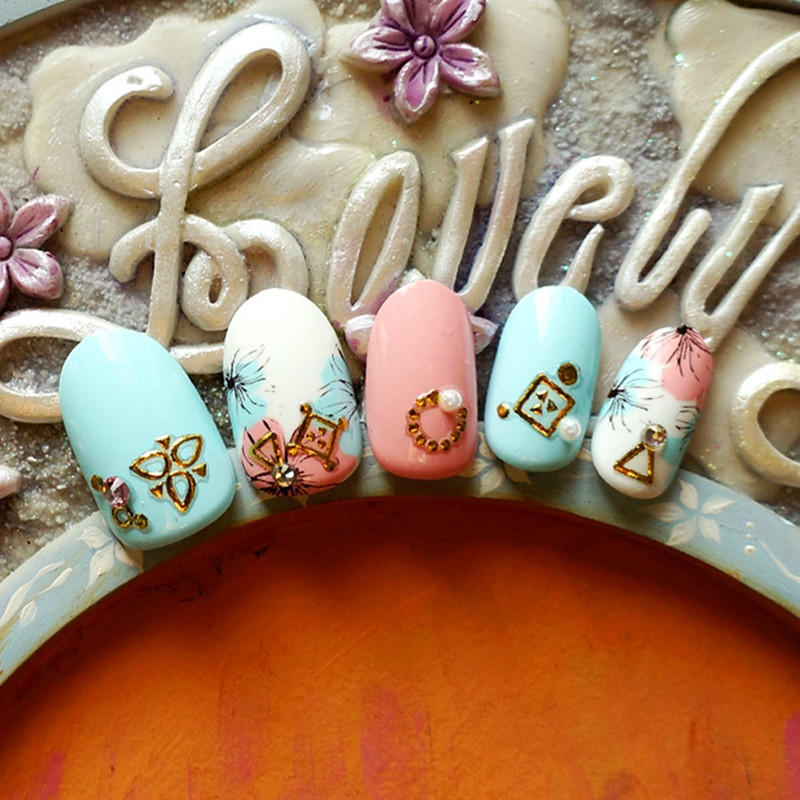 newest gold nail stickers design for women-2