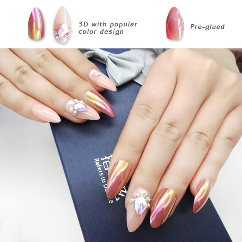 Newair Fake Nails how to remove press on nails series for lady-3