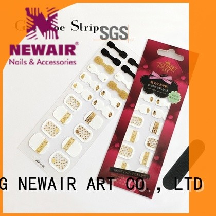 Newair Fake Nails gold incoco nail strips factory price for gifts