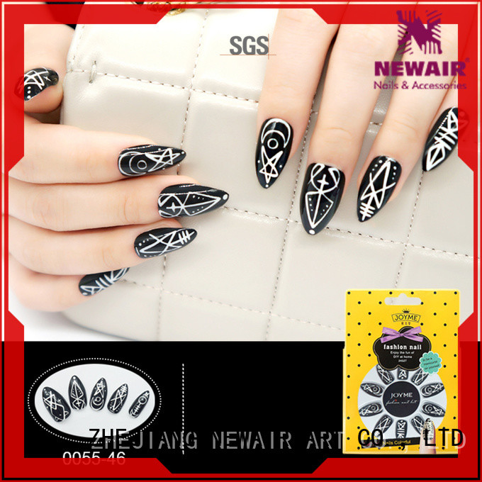 glossy 3D fake nail factory price for girls