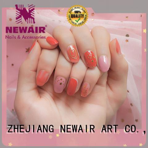 Newair Fake Nails lemon essie nail strips personalized for girl