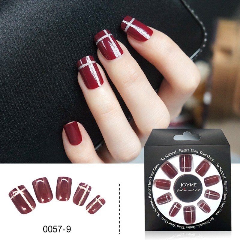 French Design Wholesale Press on Artifical False Nail Tips