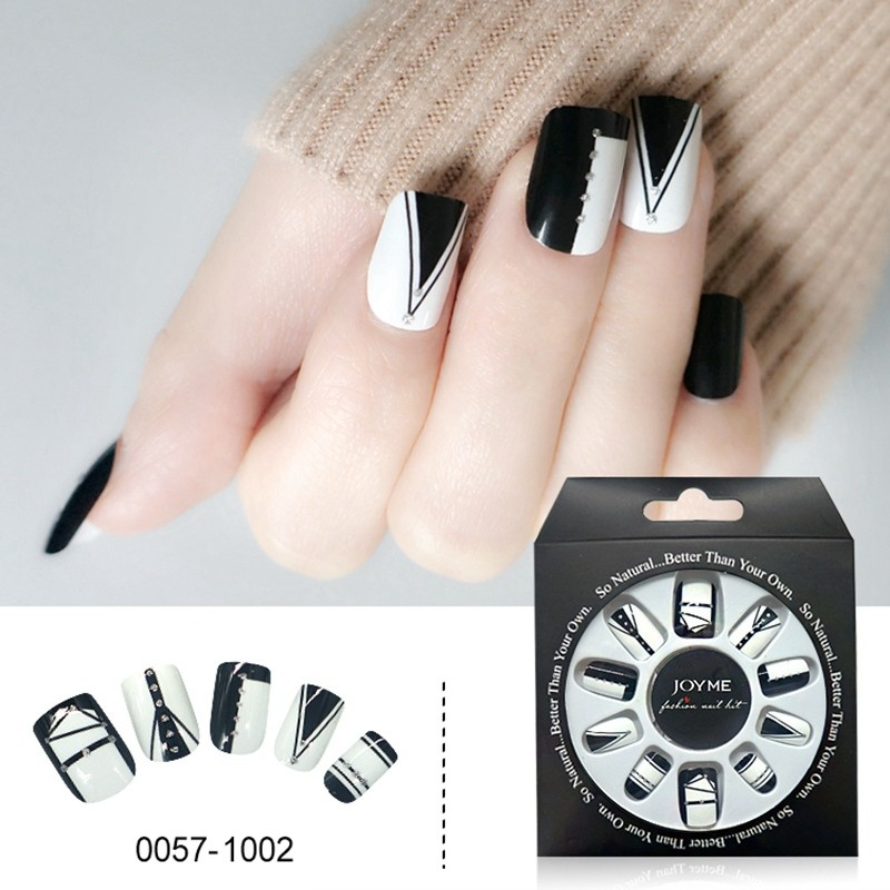 Newair Press On Nails Supplier French Nails With Crystal Fake Nails
