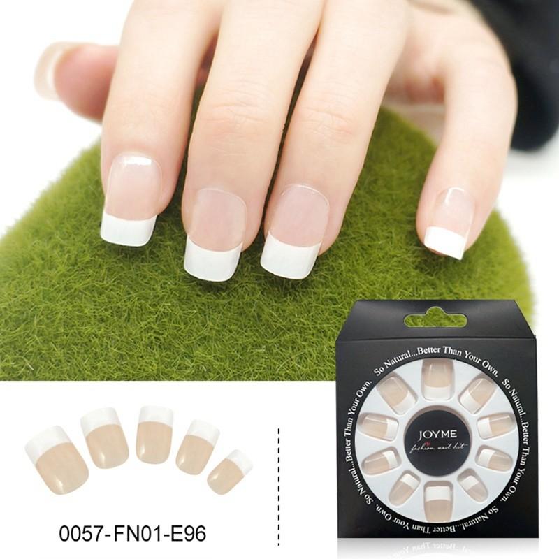 French Clear Design Wholesale False Nail Press On Nail Tips Fake Nails 24PCS