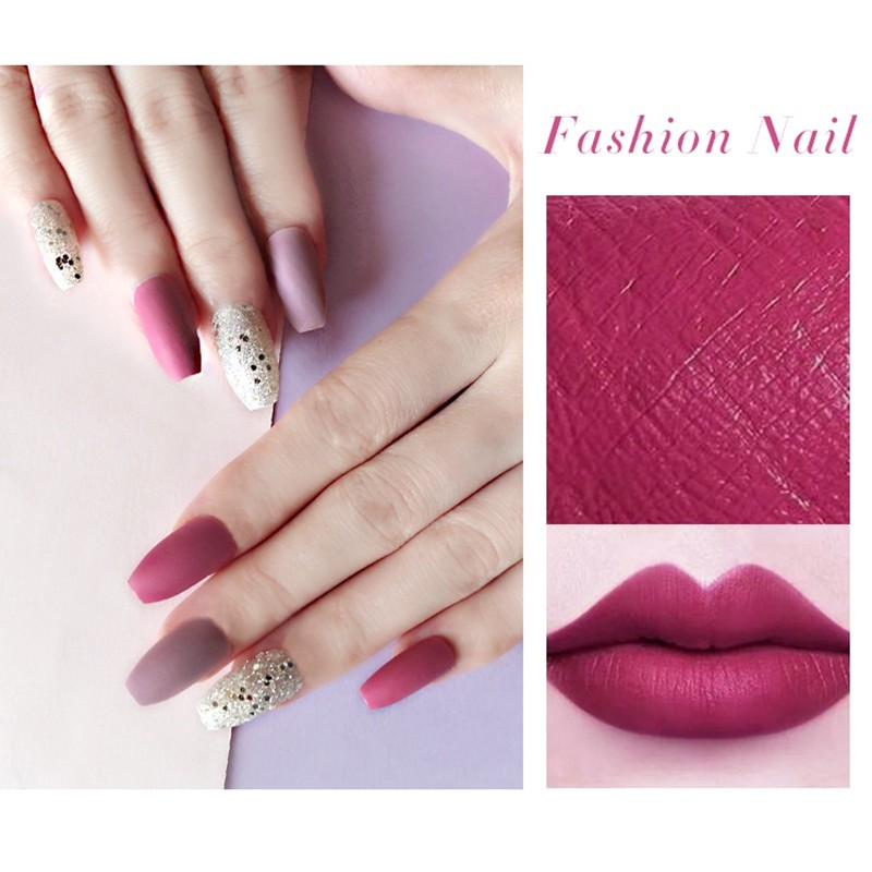 Newair Fashion nails coffin nails shapes with patterns