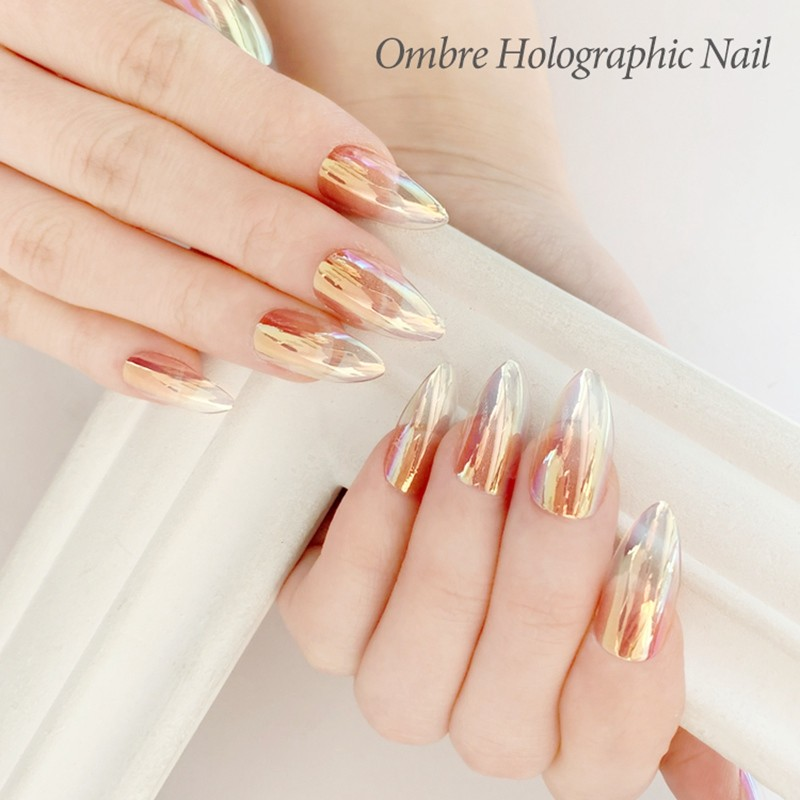 Newair artificial nails supplier with newest effect of Omber holographic nails