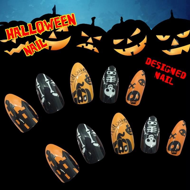 Newair Halloween Nail Stiletto False 24PCS Nail Wholesale