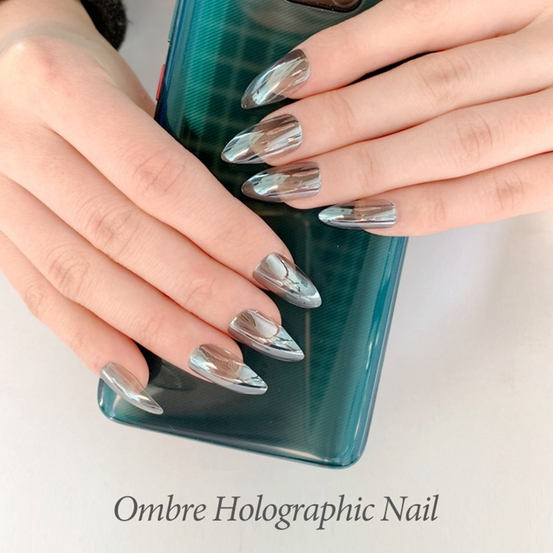 NEWAIR artificial supplier stiletto nails with omber holographic nails