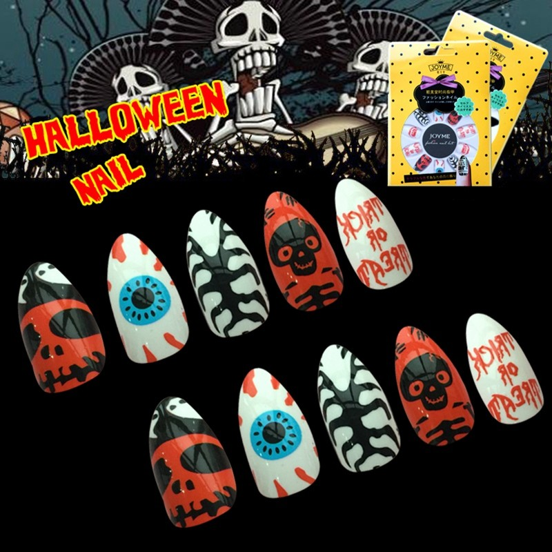 Newair Halloween Nail Stiletto False 24PCS Nail Wholesale
