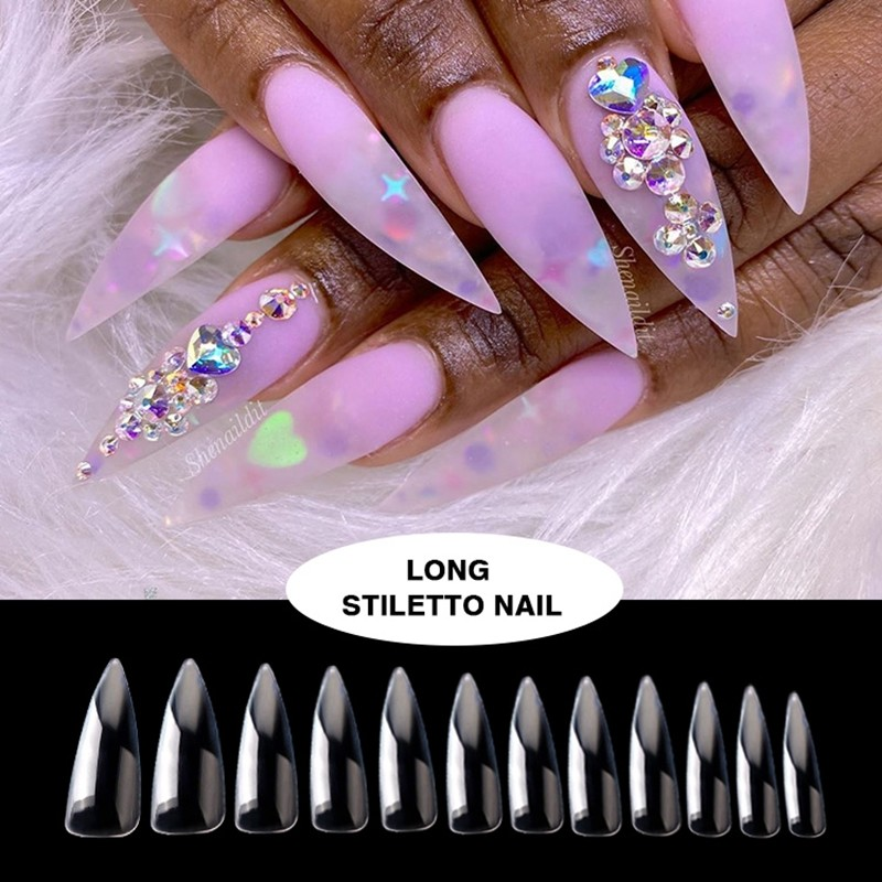 Long stiletto fashion nails from Newair nail supplier