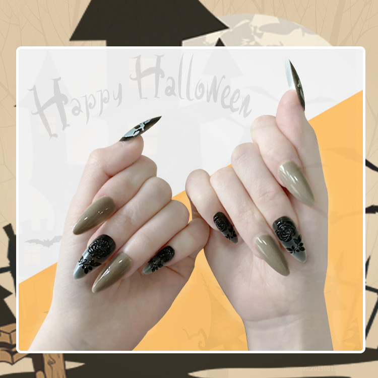 Newair Halloween Nail Stiletto False 24PCS Nail Tips
