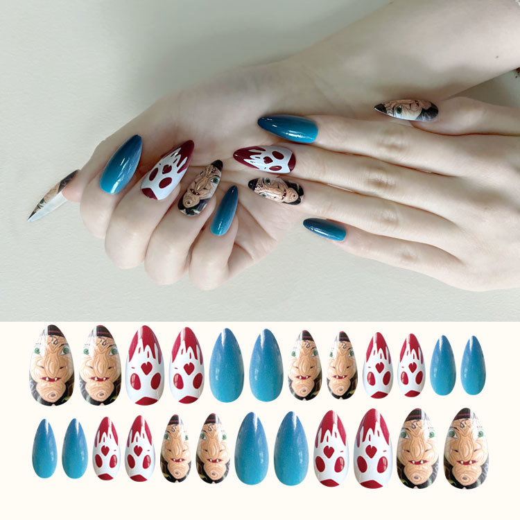 2020 Newair Halloween Nail Stiletto Print Nail 24PCS