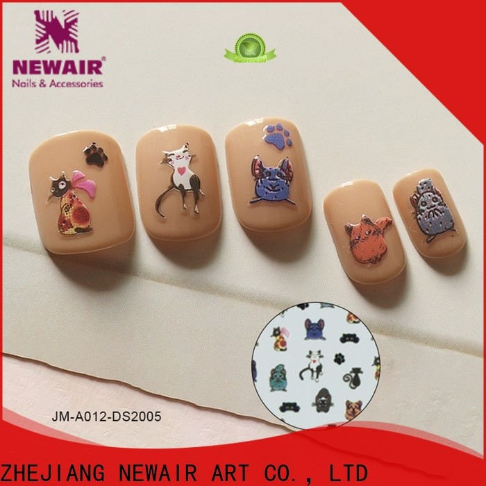 gel self-adhesive nail stickers factory for commercial