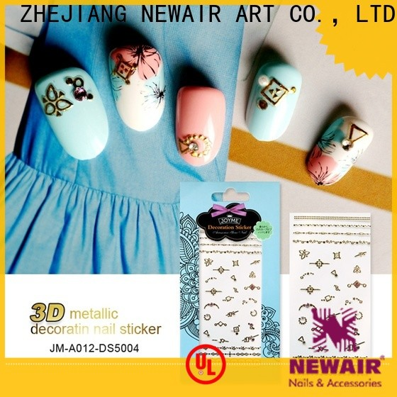 Newair Fake Nails transparent gold nail stickers with good price for women