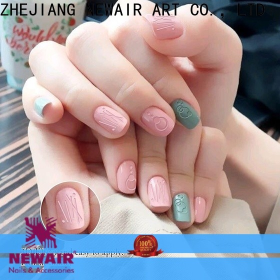 Newair Fake Nails gold water nail stickers design for girl