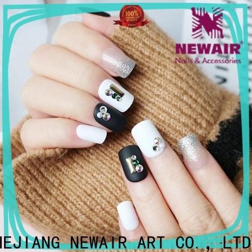 Newair Fake Nails predesigned short fake nails series for wedding