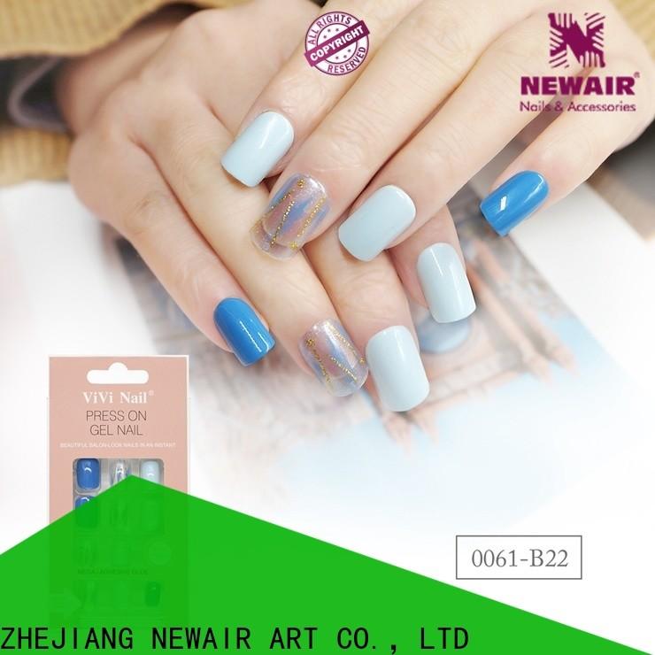 Newair Fake Nails purple etsy press on nails from China for wedding