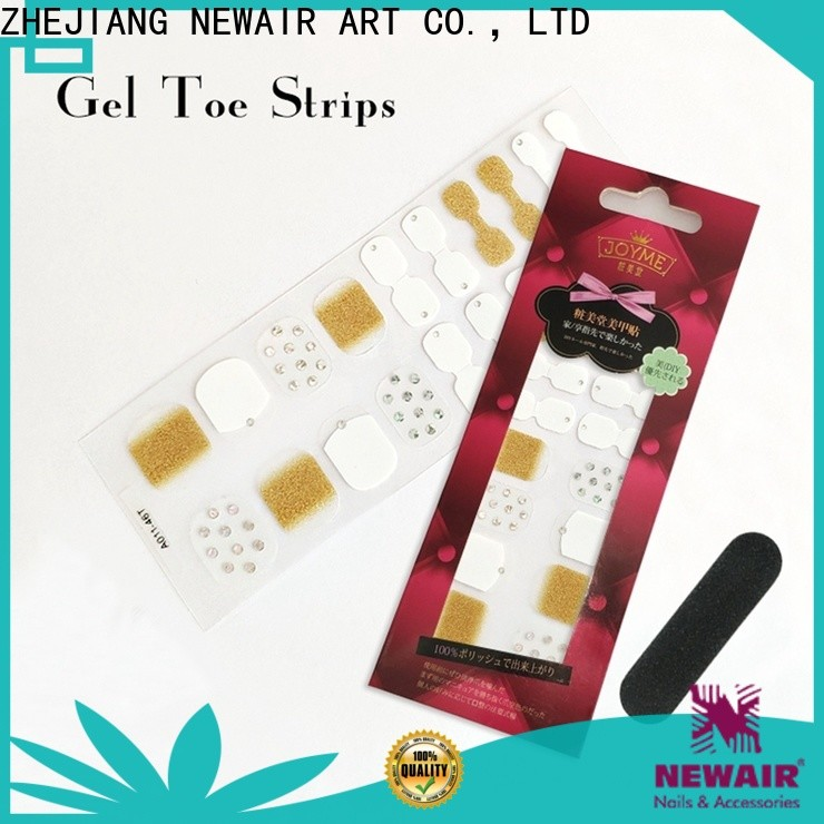 Newair Fake Nails oem nail art stripes designs personalized for commercial