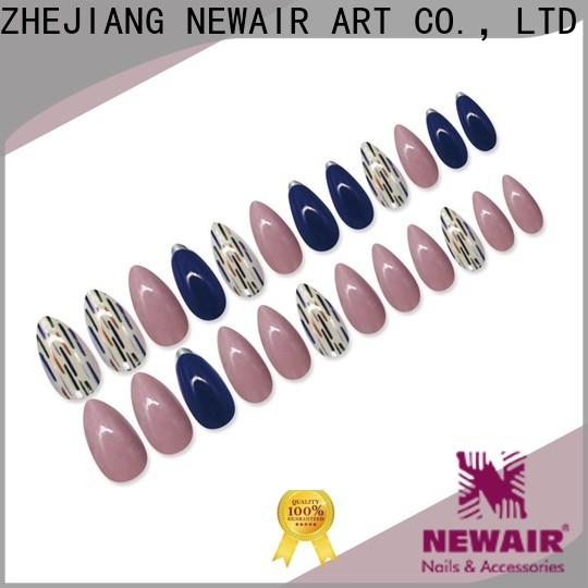 Newair Fake Nails blue artificial nails kit series for lady